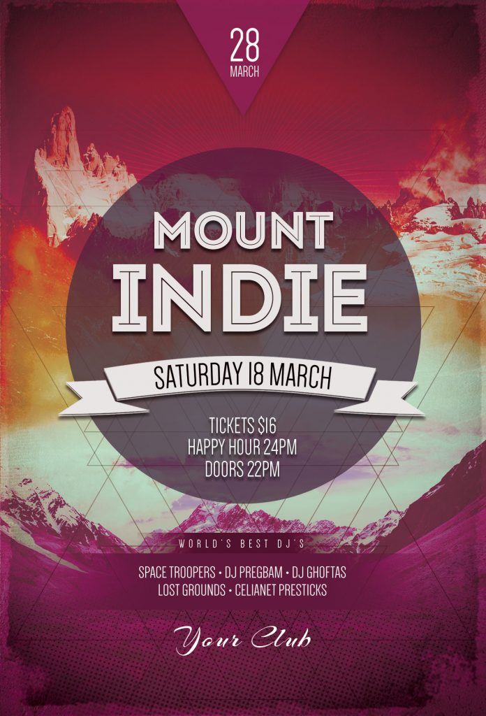 Mount Indie Flyer Template