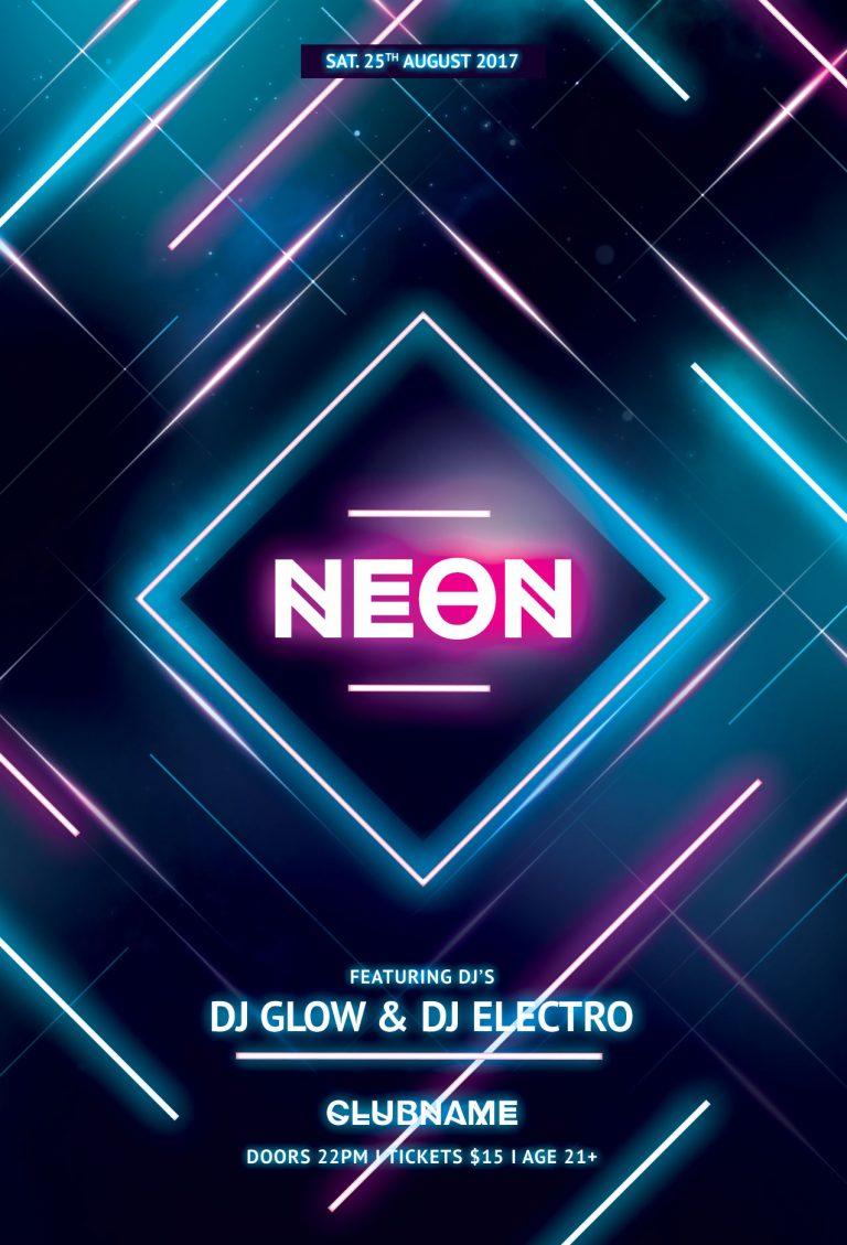 Neon Flyer Template