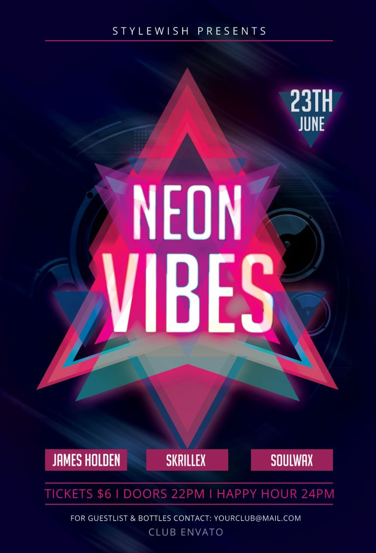 Neon Vibes Flyer Template