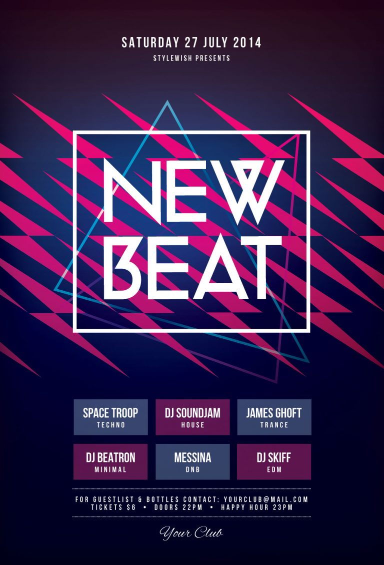 New Beat Flyer Template