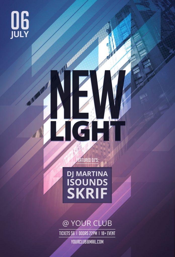 New Light Flyer Template