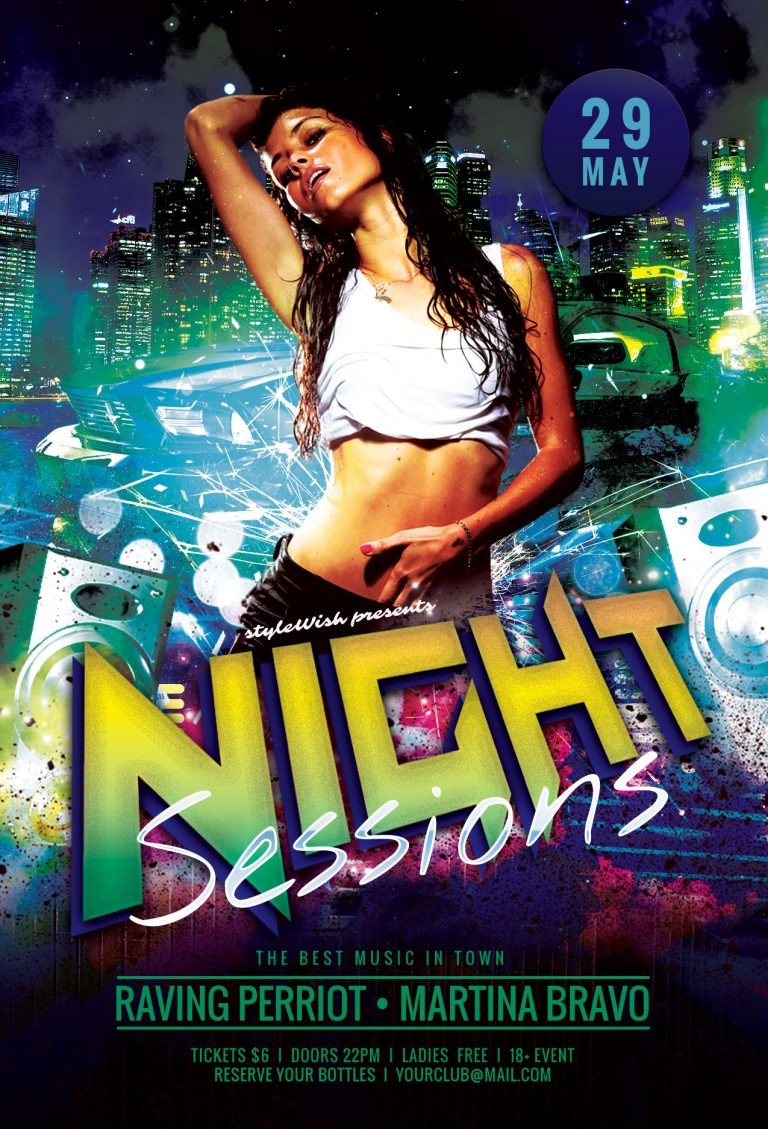Night Sessions Flyer Template