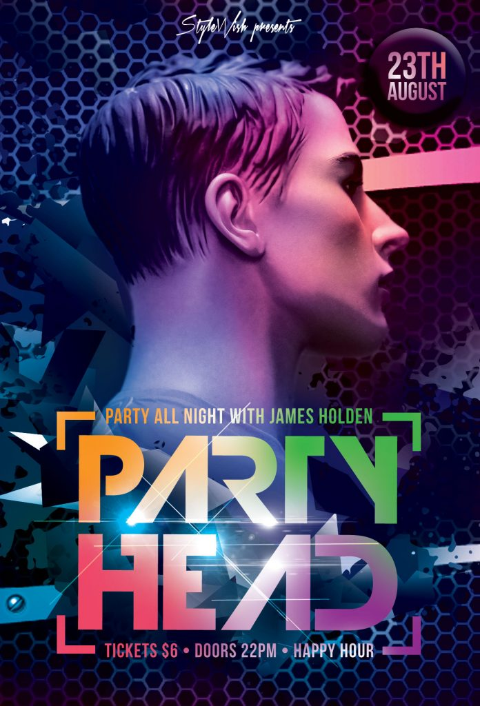 Party Head Flyer Template