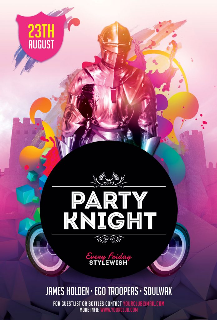 Party Knights Flyer Template