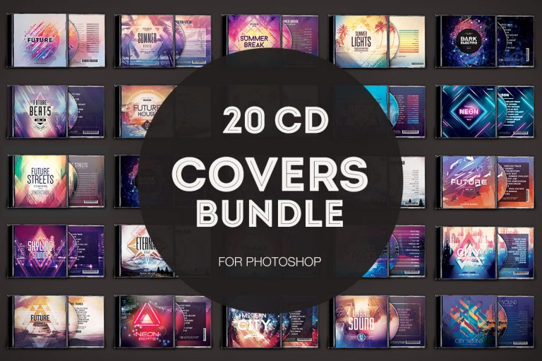 20 CD Covers Bundle