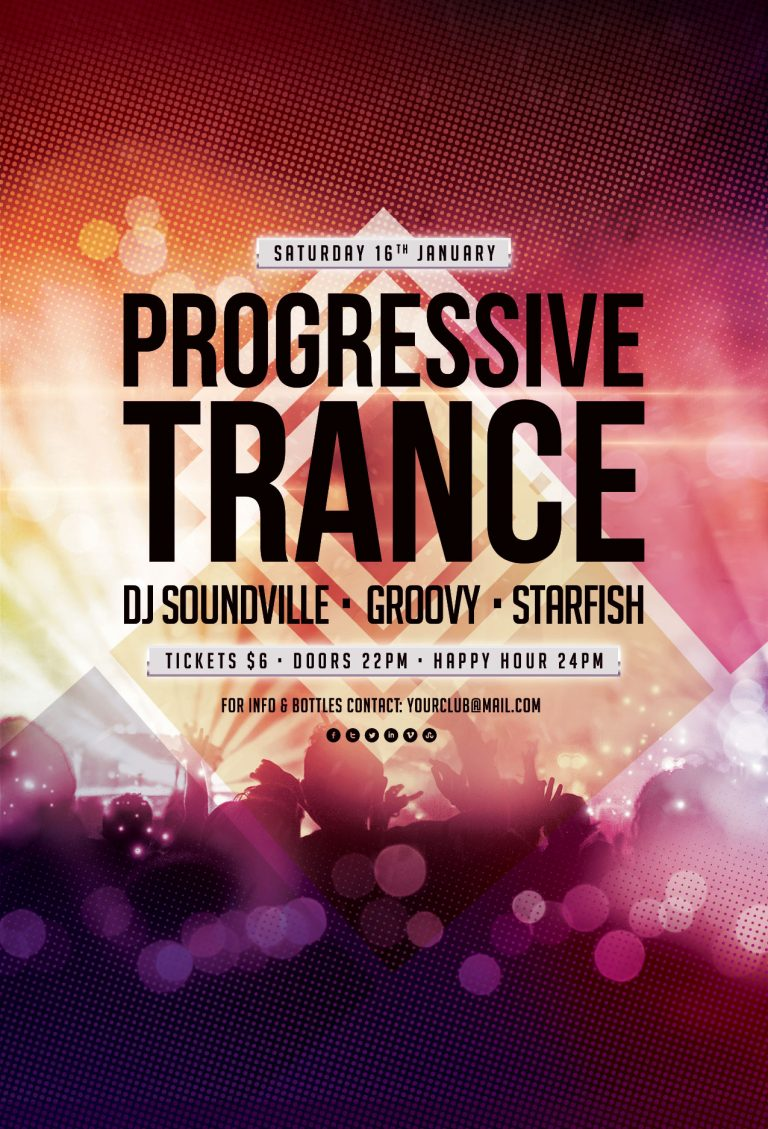 Progressive Trance Flyer Template