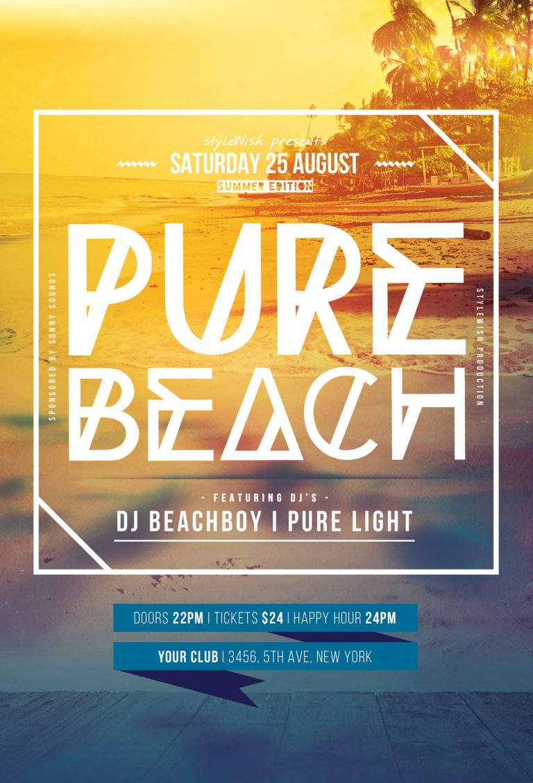 Pure Beach Flyer Template