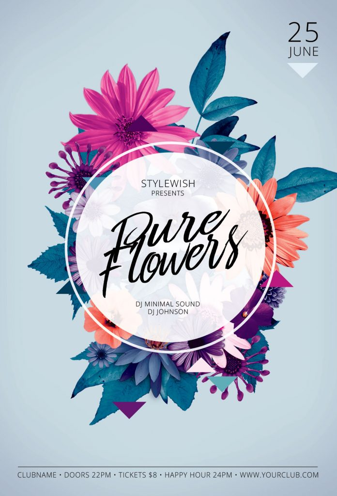 Pure Flowers Flyer Template