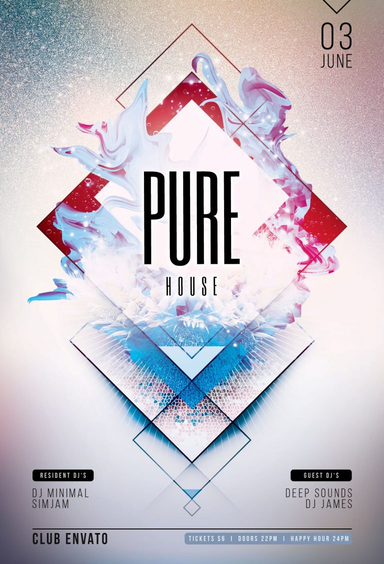 Pure House Flyer Template