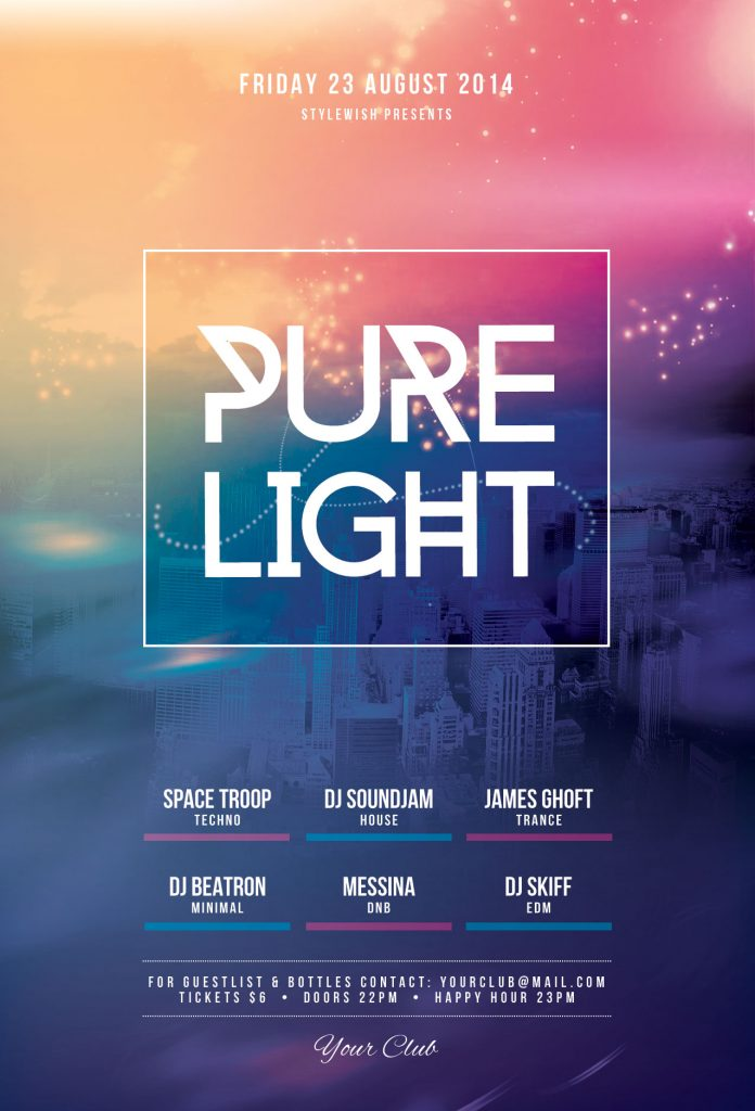 Pure Lights Flyer Template