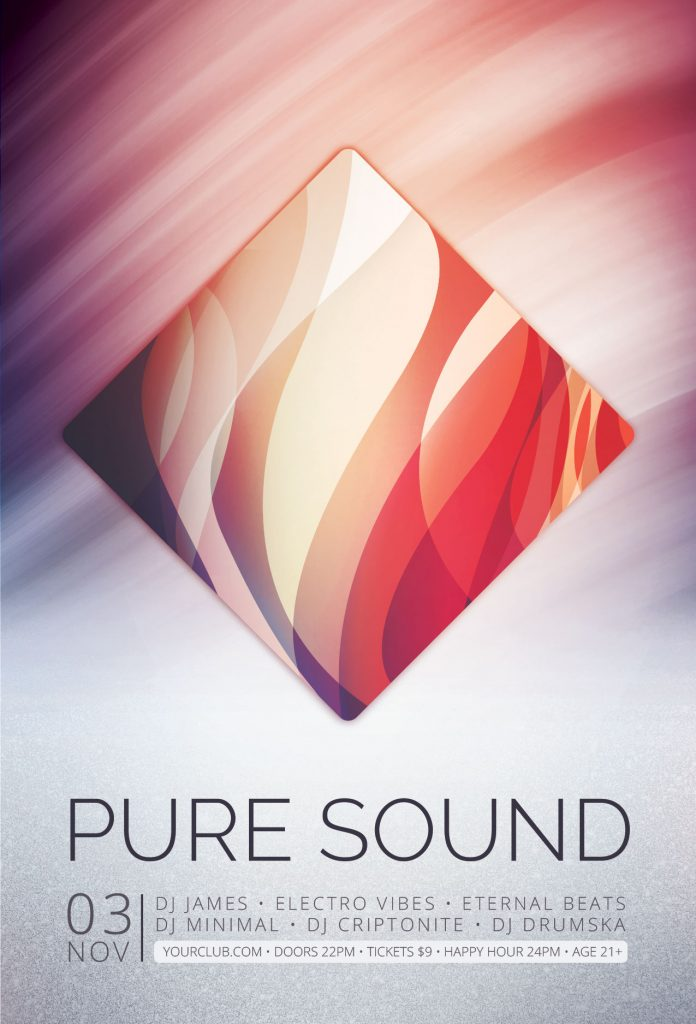 Pure Sound Flyer Template