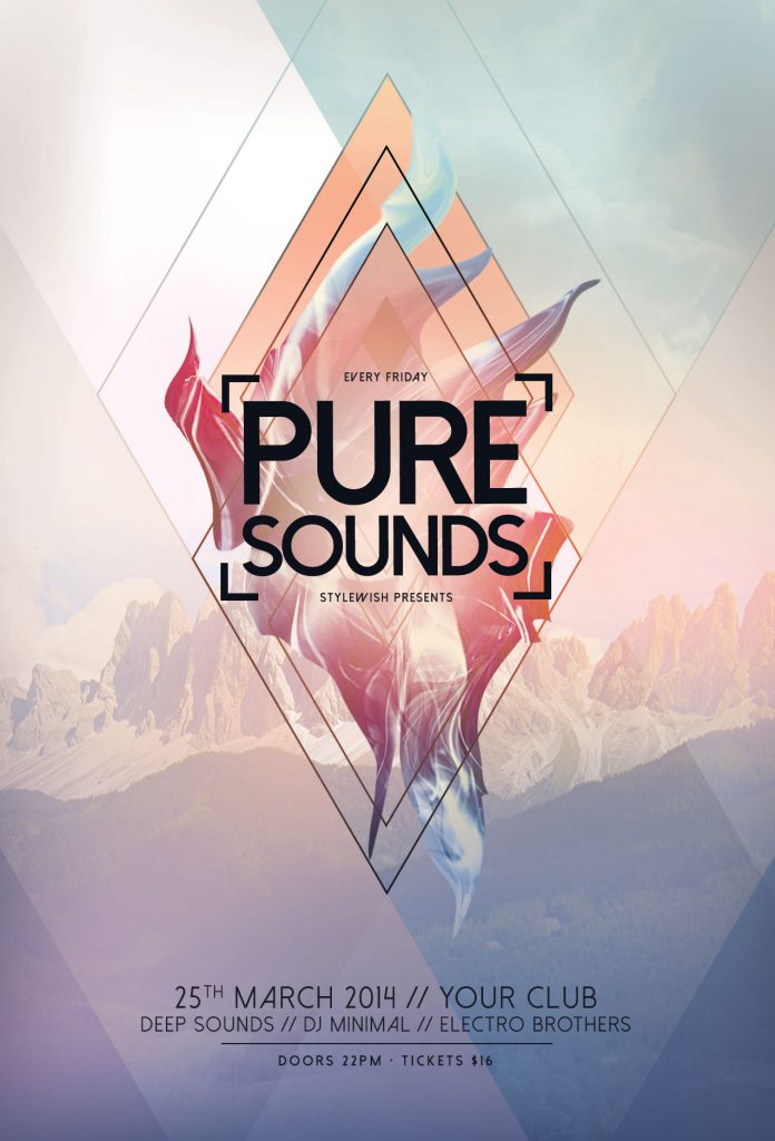 Pure Sounds Flyer Template