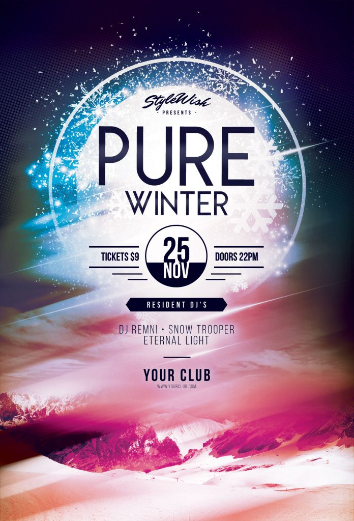winter flyer templates for photoshop stylewish