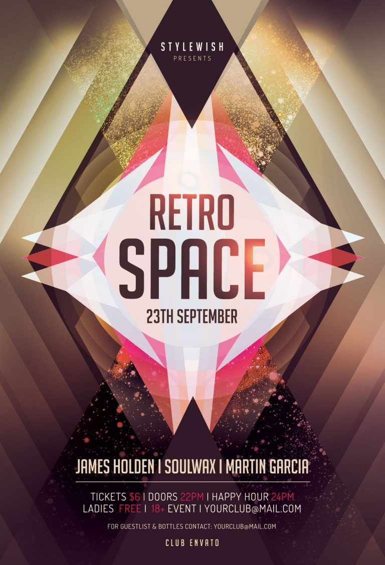Retro Space Flyer Template