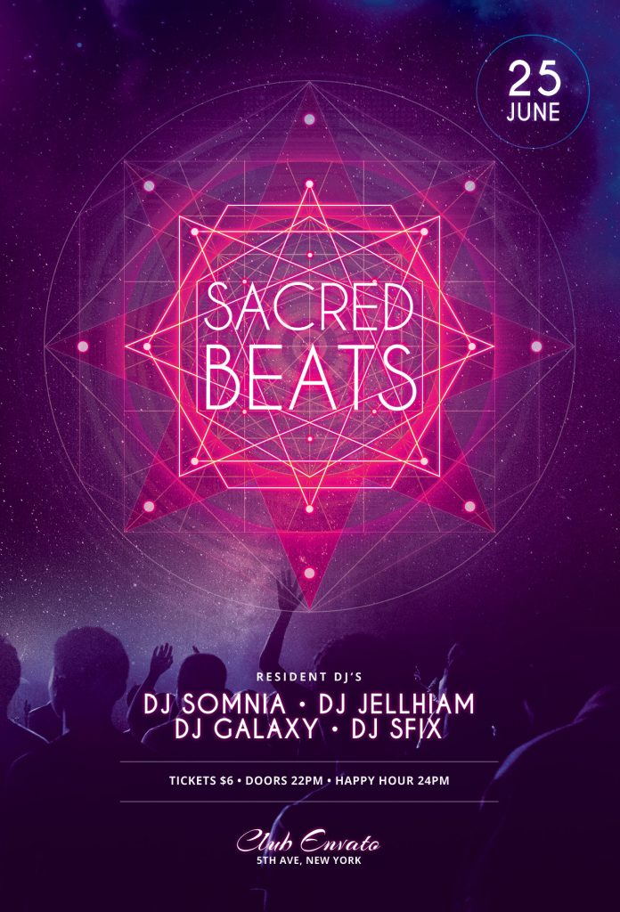 Sacred Beats Flyer Template