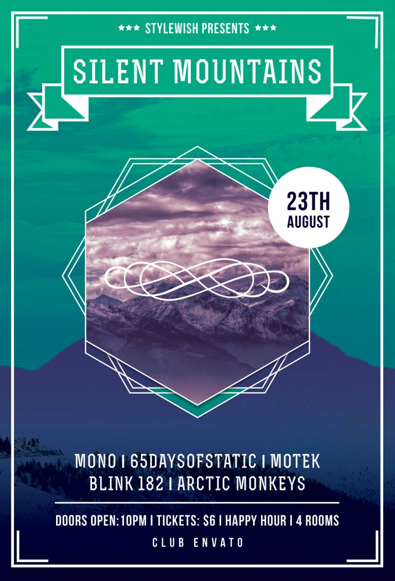 Silent Mountains Flyer Template