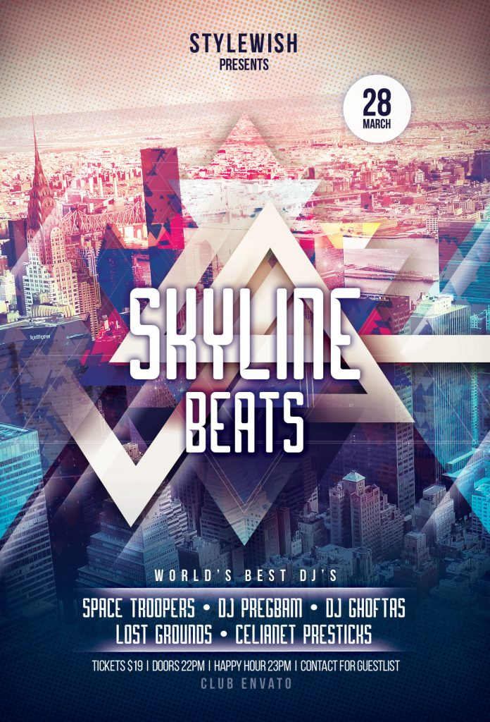 Skyline Beats Flyer Template