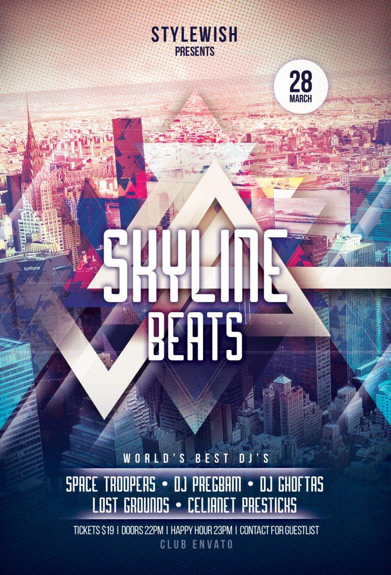 Skyline Beats Flyer Template
