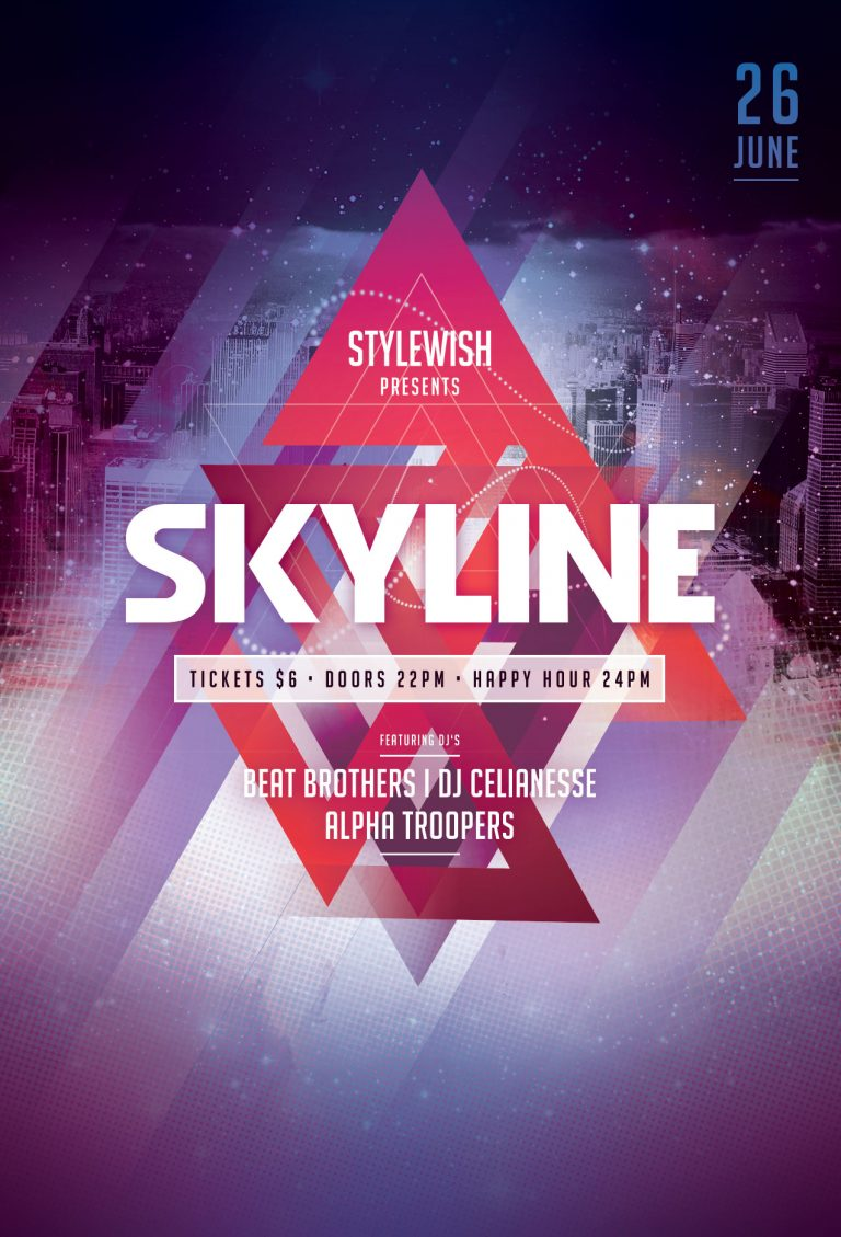 Skyline Flyer Template