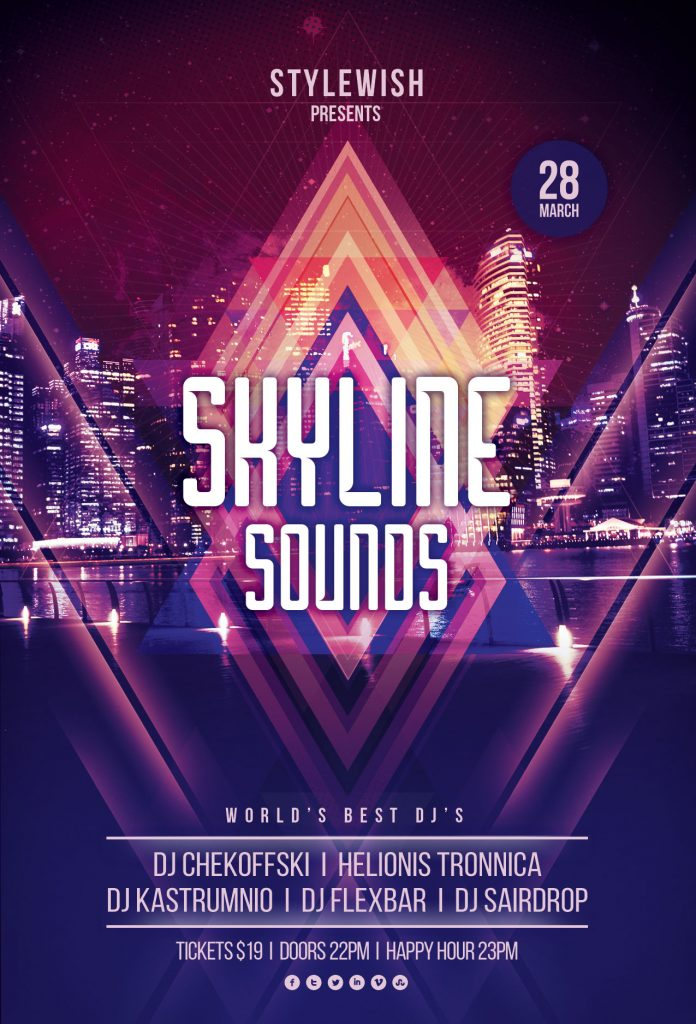 Skyline Sounds Flyer Template