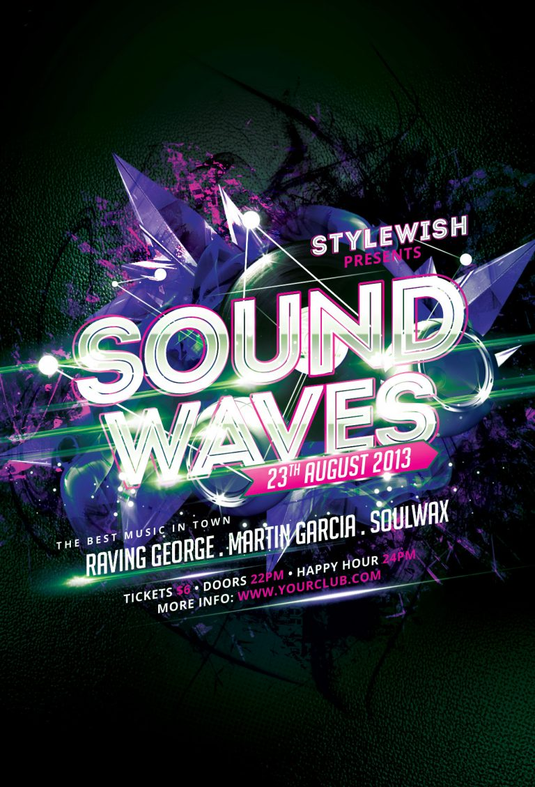 Sound Waves Flyer Template