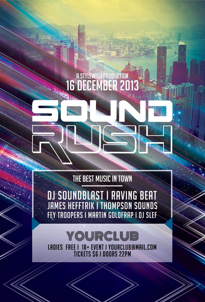 Sound Rush Flyer Template