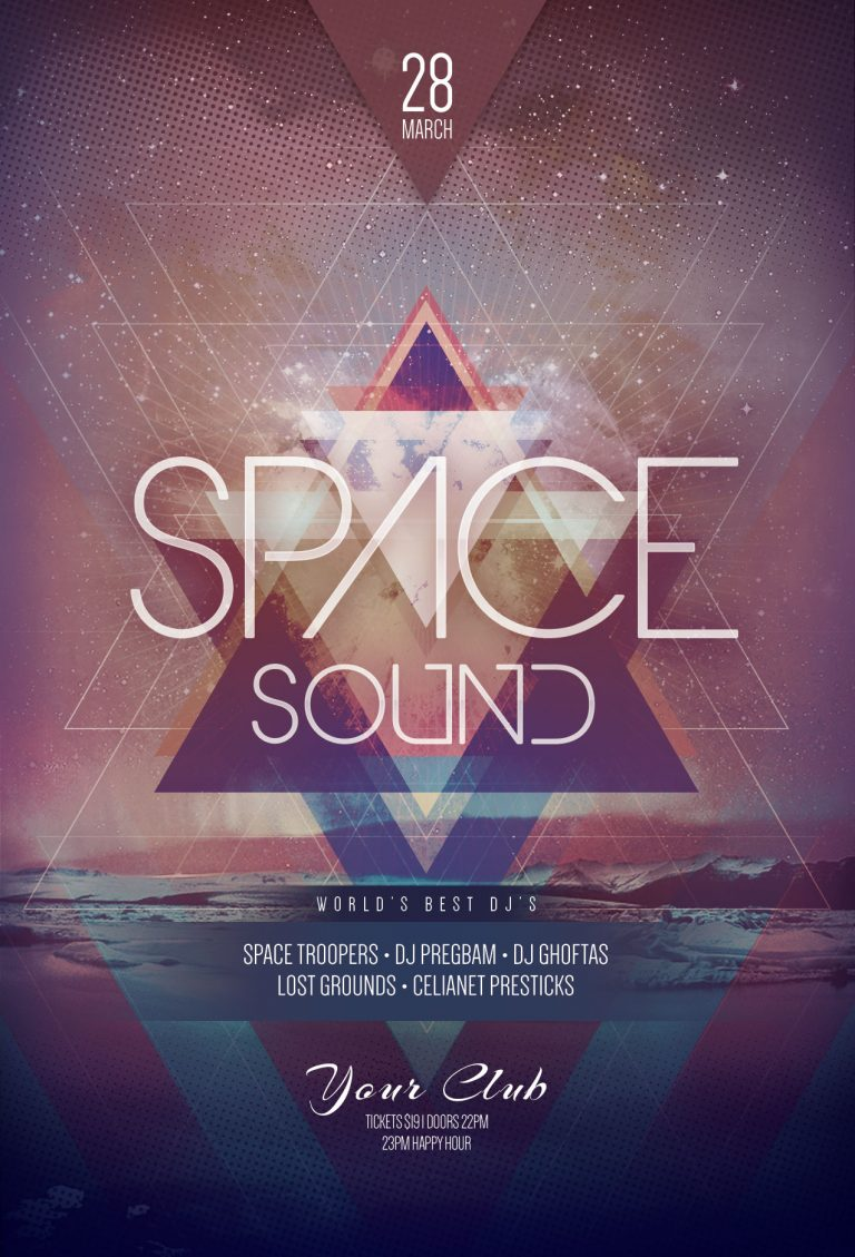 Space Sound Flyer Template