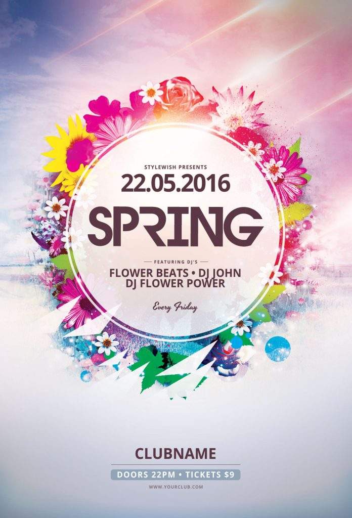 the best spring flyer templates in psd  u2022 stylewish