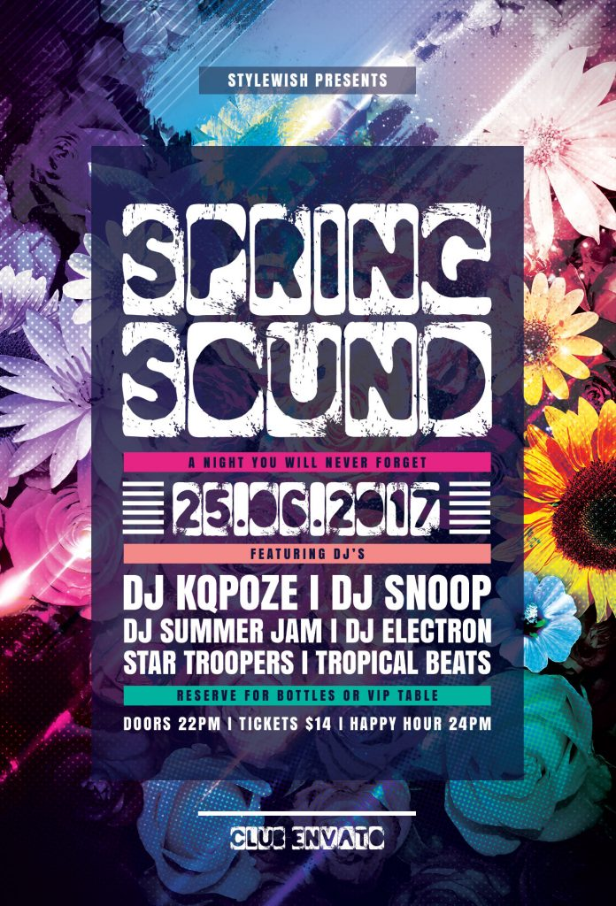 Spring Sound Flyer Template