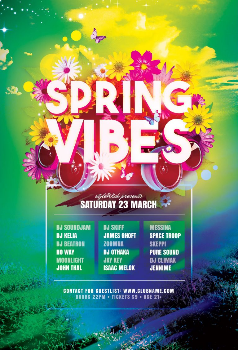 Spring Vibes Flyer Template