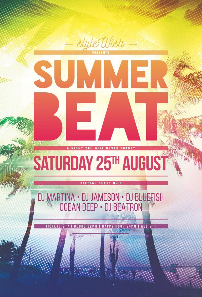 Summer Beat Flyer Template