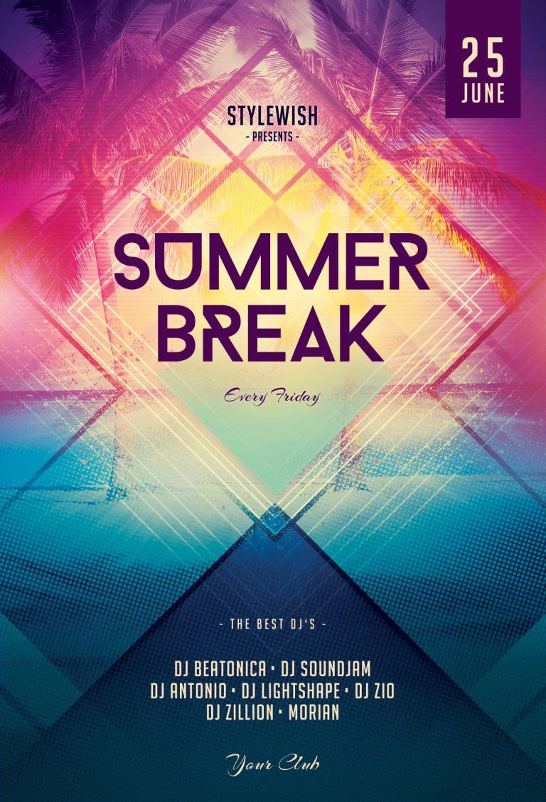 Summer Break Flyer Template