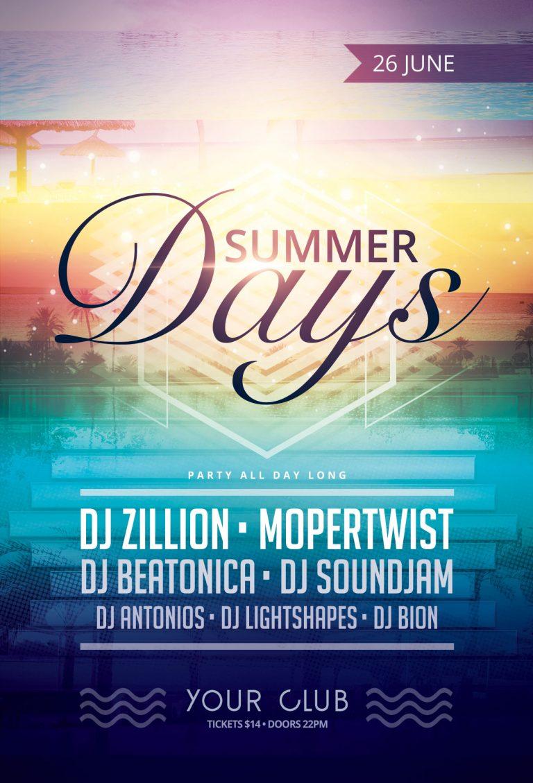 Summer Days Flyer Template