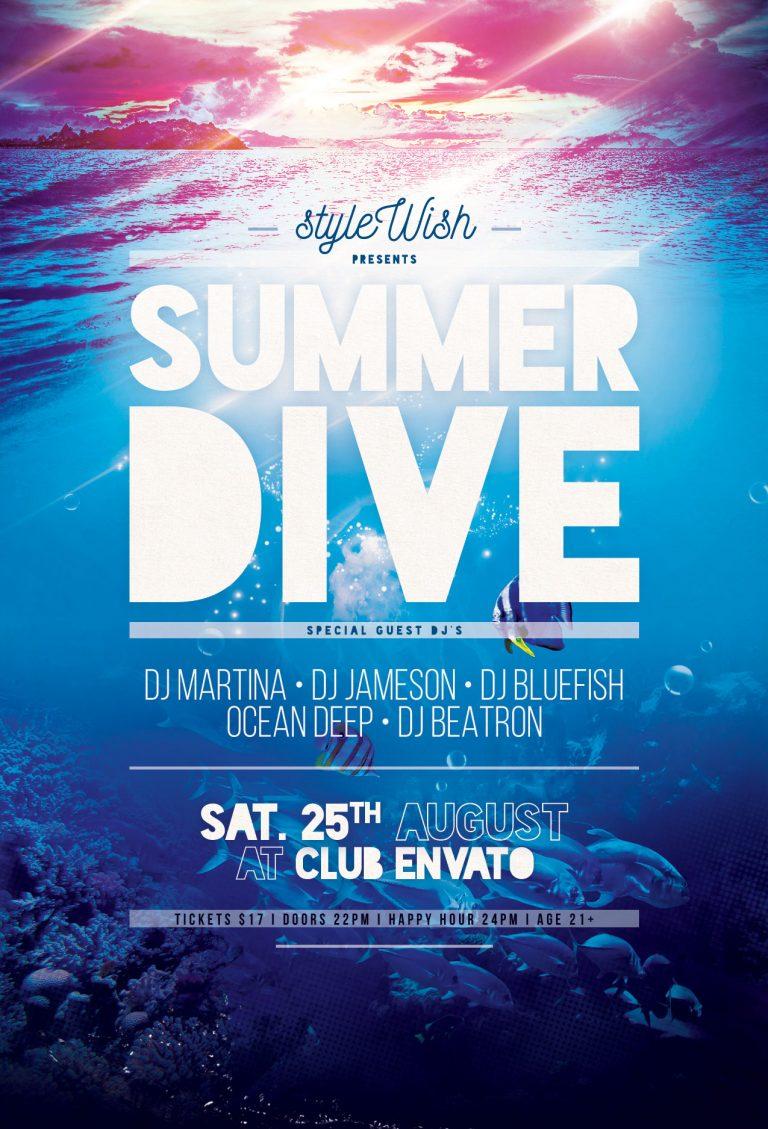Summer Dive Flyer Template