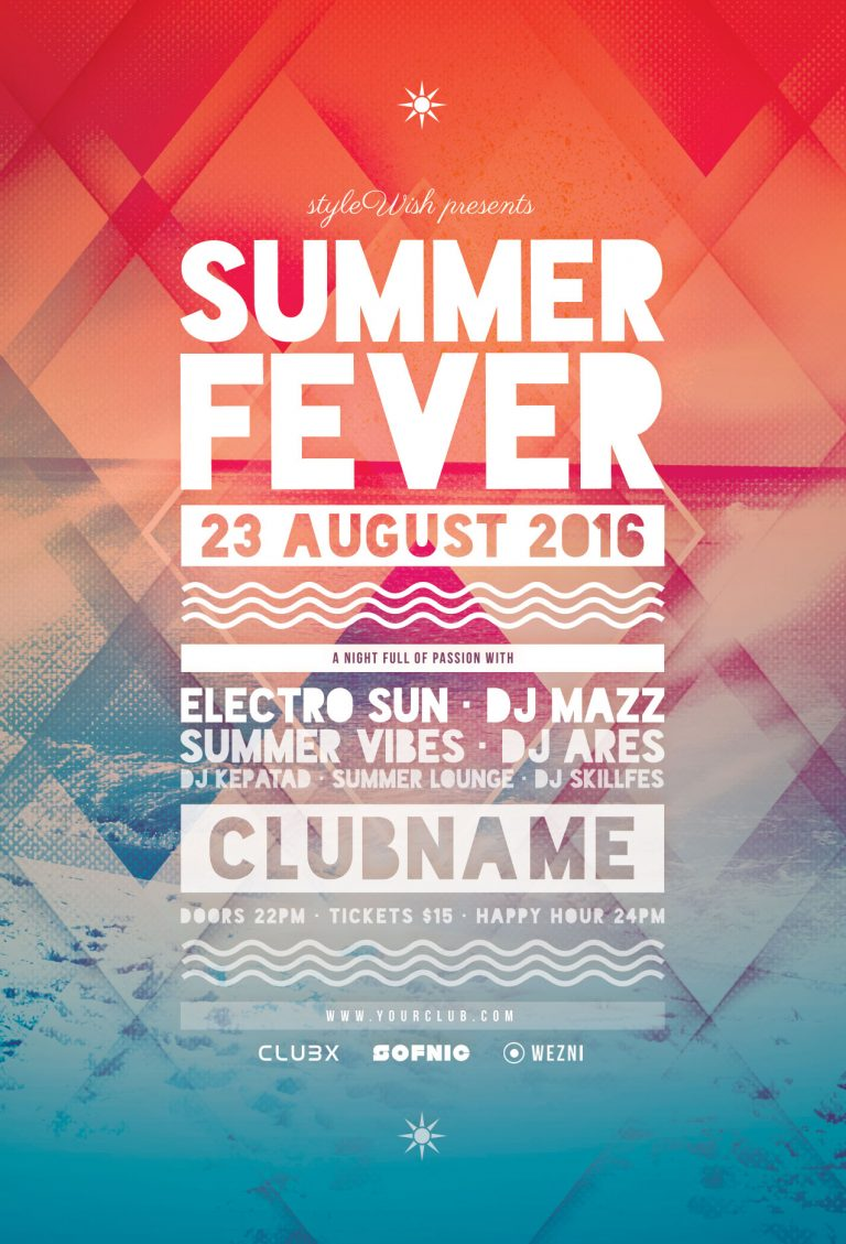 Summer Fever Flyer Template