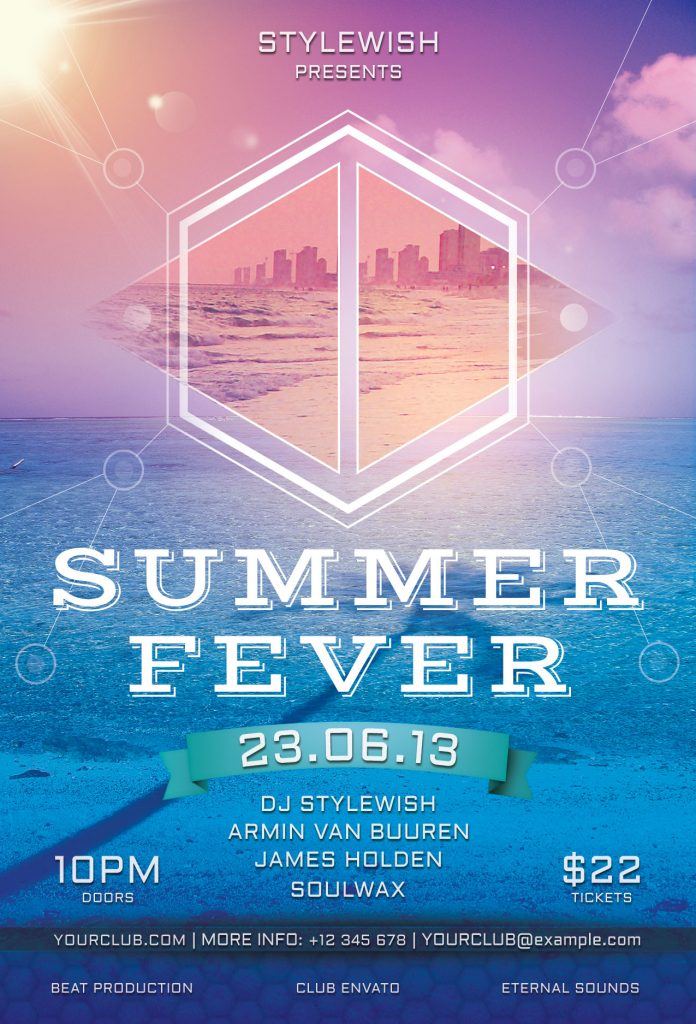 Summer Fever Flyer Template