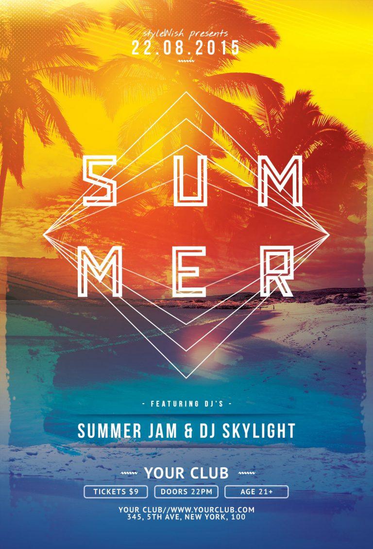 Summer Flyer Template