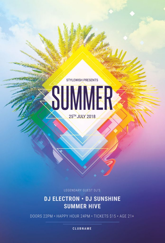 the best summer flyer templates in psd  u2022 stylewish
