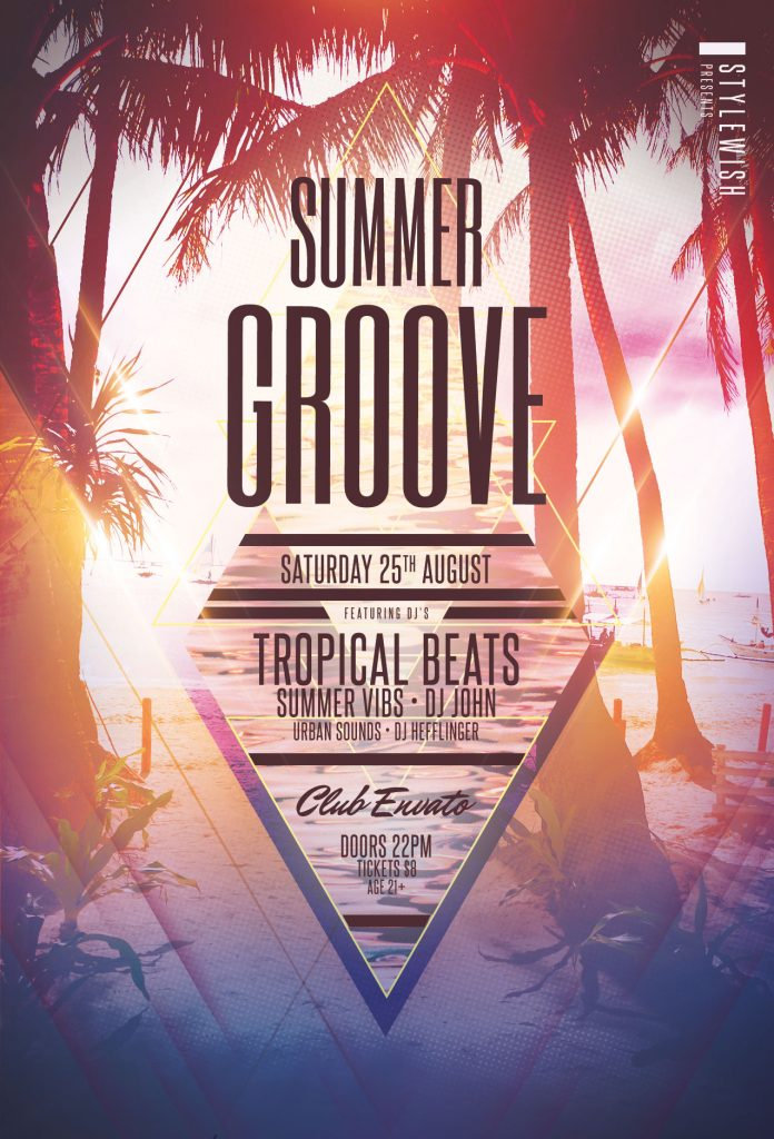 Summer Groove Flyer Template