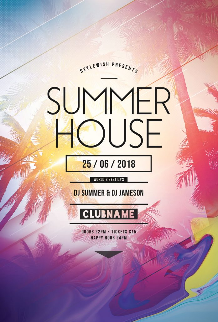 Summer House Flyer Template
