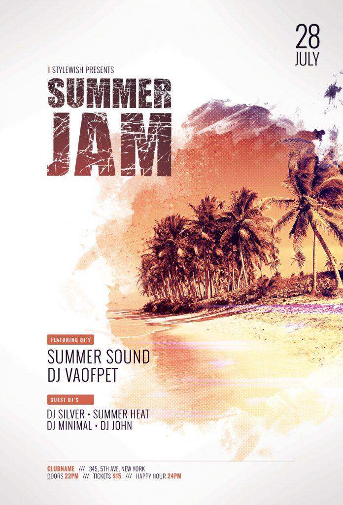the best summer flyer templates in psd  u2022 stylewish