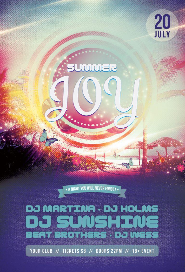 Summer Joy Flyer Template