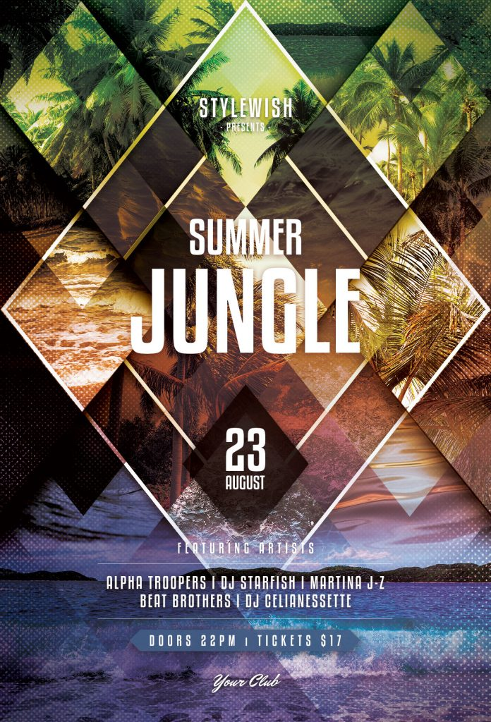 Summer Jungle Flyer Template