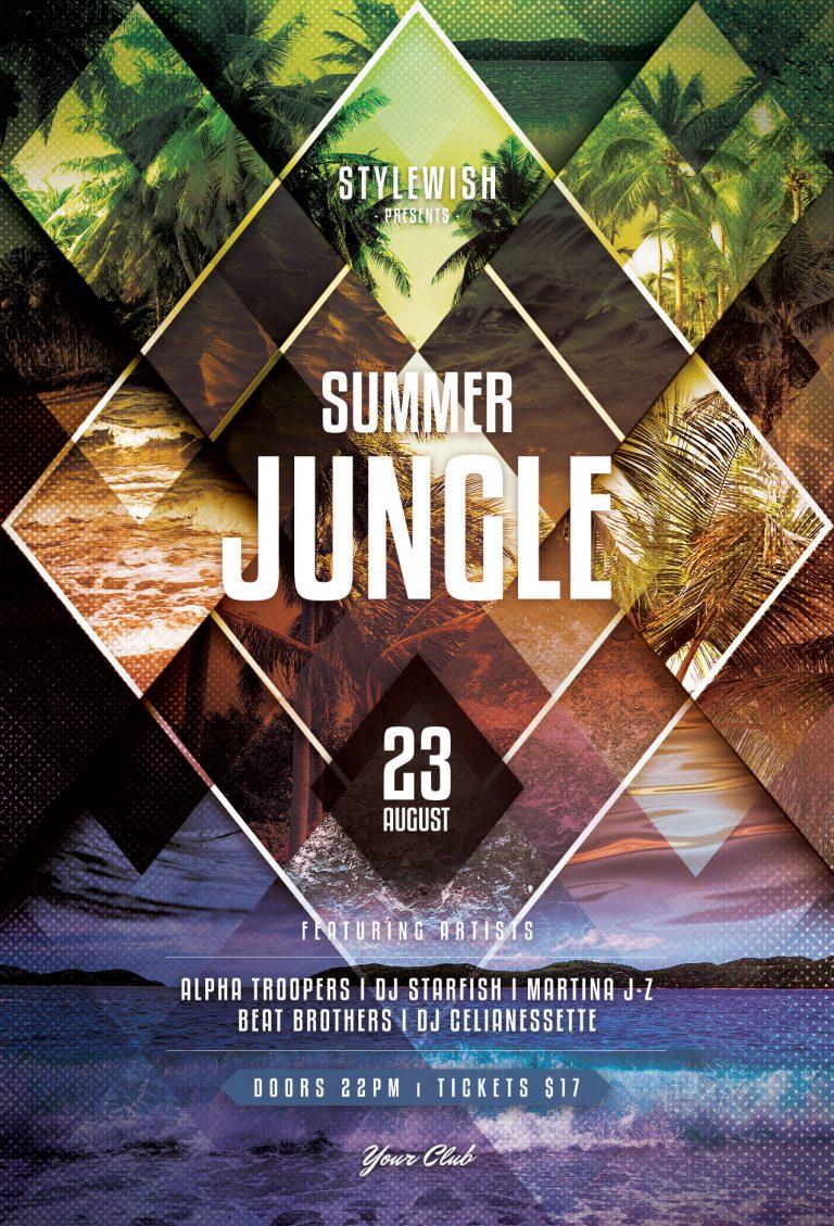 Summer Jungle Flyer Template