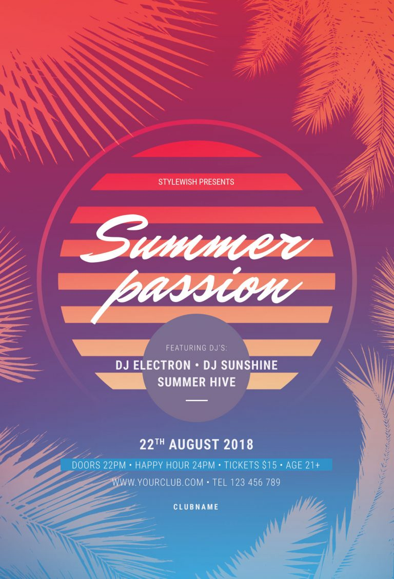 Summer Passion Flyer Template