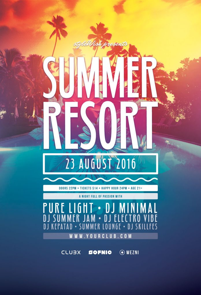 Summer Resort Flyer Template