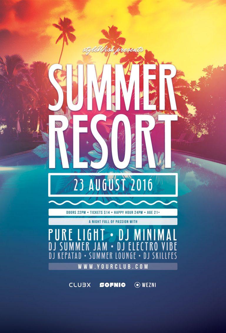 Summer Resort Flyer Template