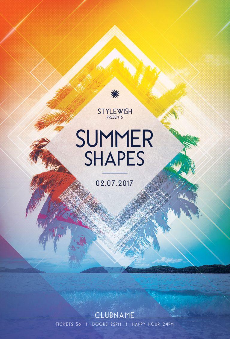 Summer Shapes Flyer Template