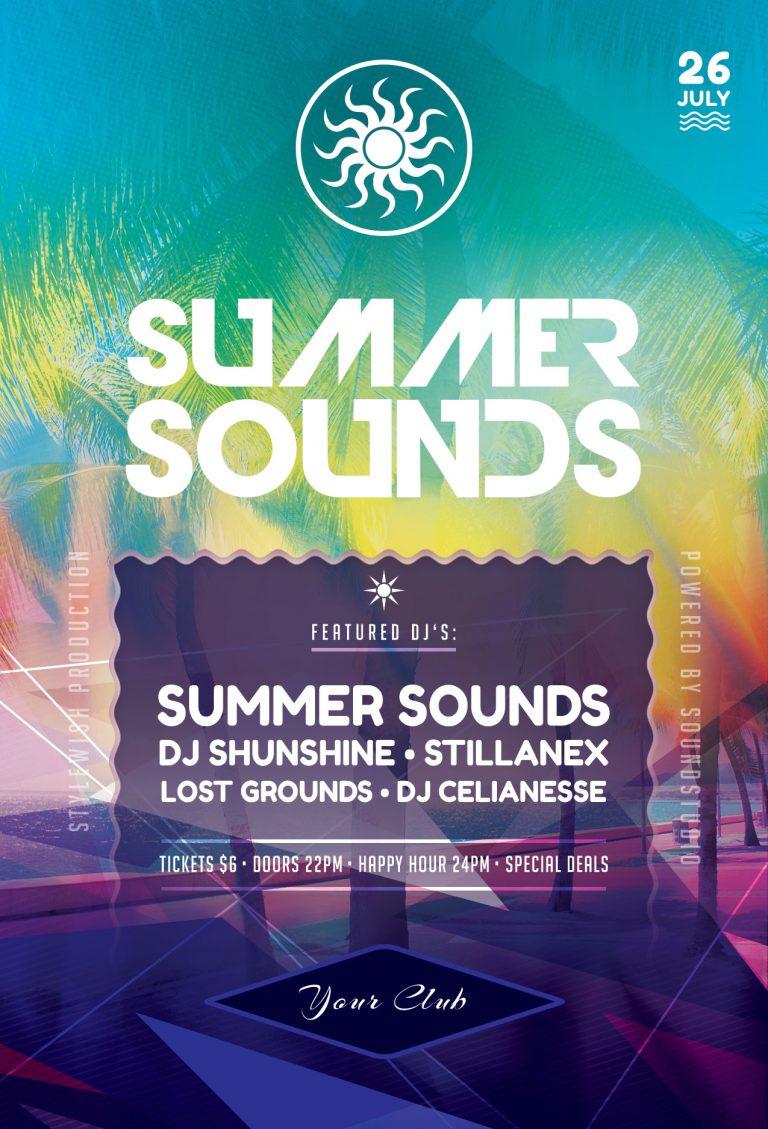 Summer Sounds Flyer Template