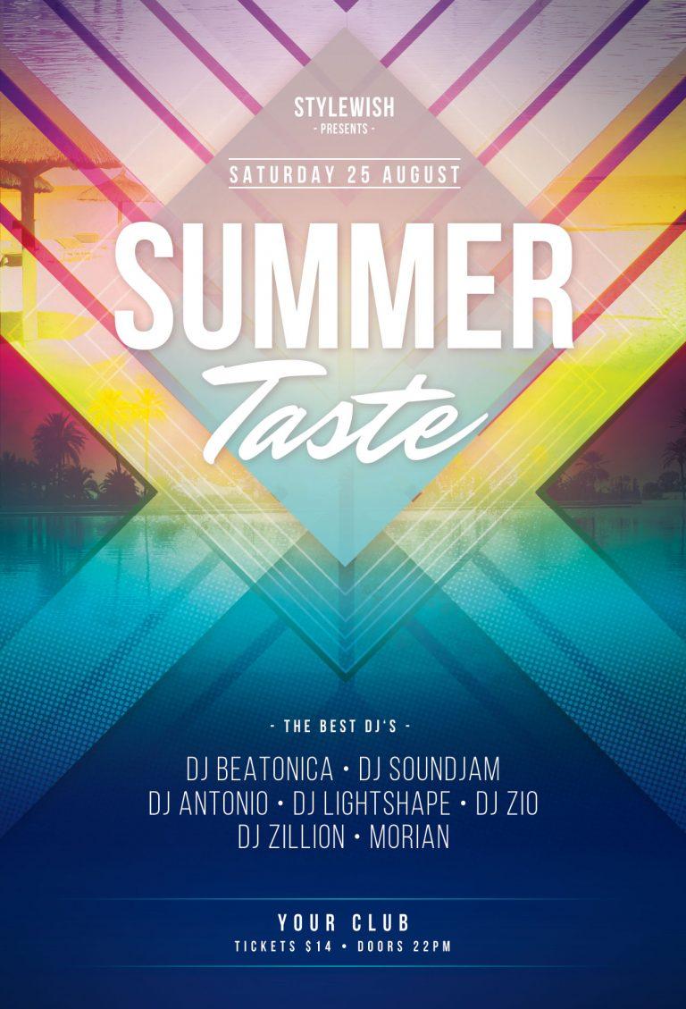 Summer Taste Flyer Template